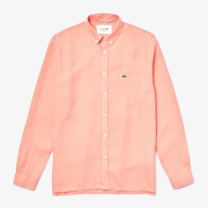 Camisa Lacoste lino coral 1