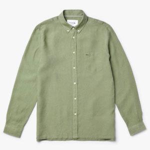 Camisa Lacoste lino verde 1