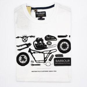 Camiseta Barbour International Moto Blanca