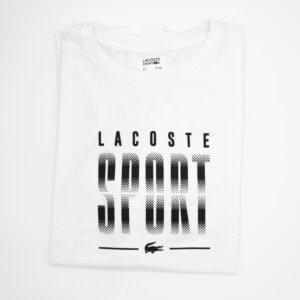 Camiseta Lacoste Blanca negra