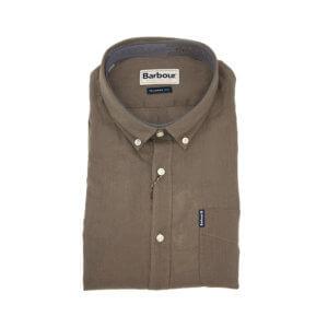 Camisa Barbour Lino Verde Caza