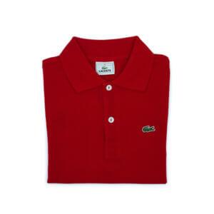 Polo Lacoste Niño Classic Rojo