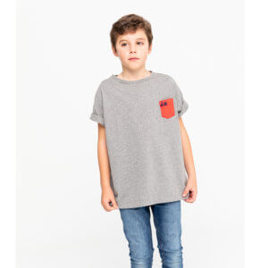 Camiseta Scotta 1985 Niño Pocket Now Gris