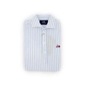 Camisa Scotta 1985 Polera Miami Raya Celeste