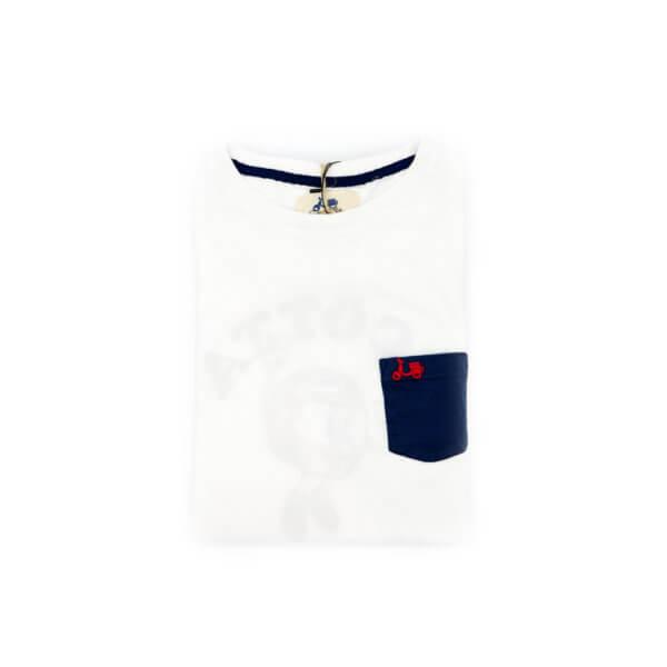 Camiseta Scotta 1985 Pocket Now Blanca