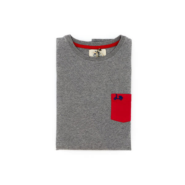 Camiseta Scotta 1985 Pocket Now Gris