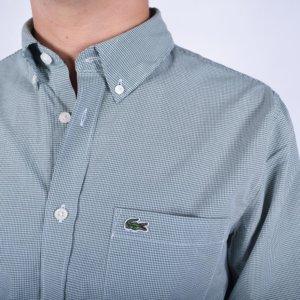 Camisa Lacoste cuadro vichí verde 1