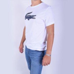 Camiseta Lacoste Sport blanca cocodrilo 3D 2