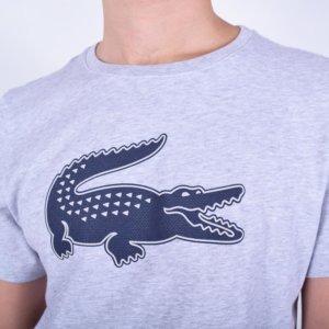 Camiseta Lacoste Sport gris cocodrilo 3D 1