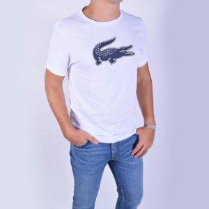 Camiseta Lacoste Sport blanca cocodrilo 3D 1