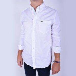 Camisa Lacoste Oxford blanca 1