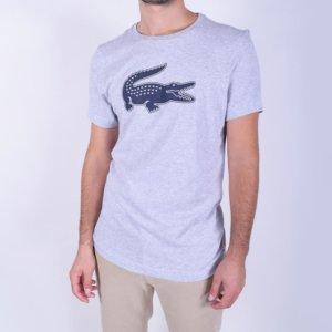 Camiseta Lacoste Sport gris cocodrilo 3D 2
