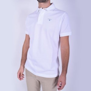 Polo Barbour Blanco 2