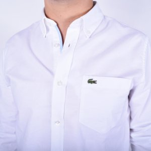 Camisa Lacoste Oxford blanca 2
