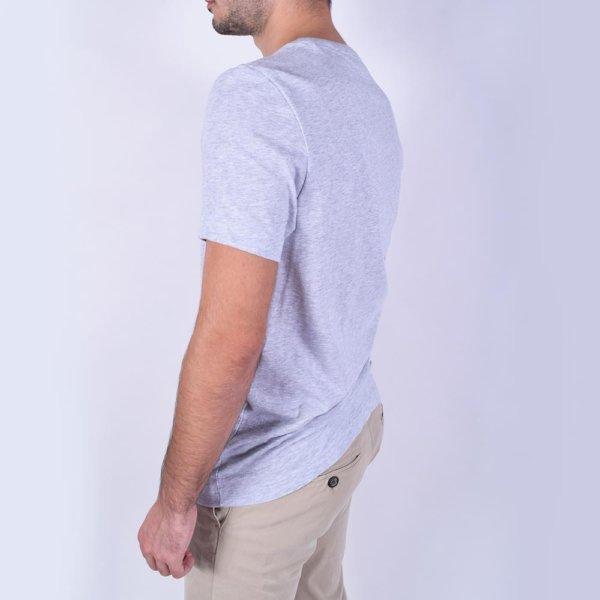 Camiseta Lacoste Sport gris cocodrilo 3D 3