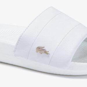 Chanclas Lacoste Mujer Croco Slide Blanco 1