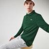Polo Lacoste sport verde manga larga 1