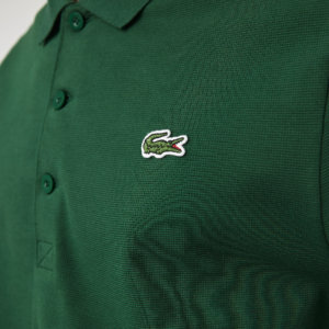 Polo Lacoste sport verde manga larga 2