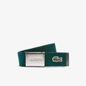 Cinturón Lacoste textil verde 1
