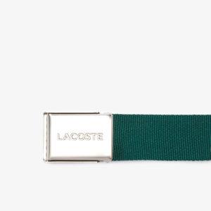 Cinturón Lacoste textil verde 2
