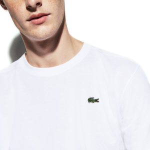 Camiseta Lacoste Blanca logo 2