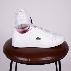 Zapatillas Lacoste mujer Carnaby Evo logo rosa 1