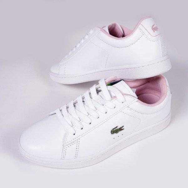Zapatillas Lacoste mujer Carnaby Evo logo rosa 3