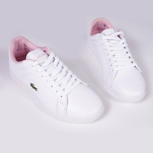 Zapatillas Lacoste mujer Carnaby Evo logo rosa 2