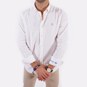 Camisa Harper & Neyer blanca logo puño 2