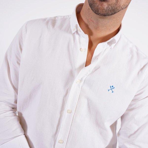 Camisa Harper & Neyer blanca logo puño 1