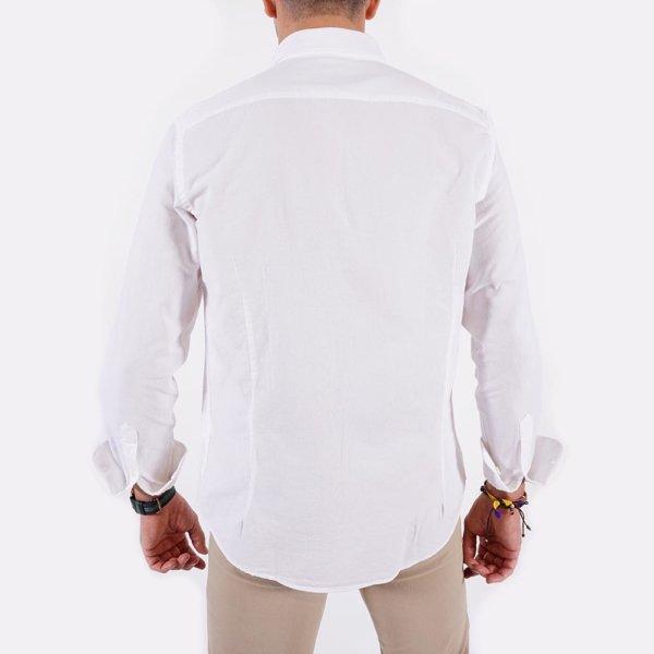 Camisa Harper & Neyer blanca logo puño 3