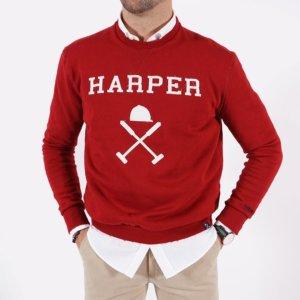 Sudadera Harper & Neyer new england rojo 1