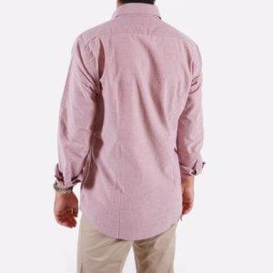 Camisa Barbour oxford roja 2