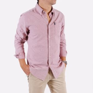 Camisa Barbour oxford roja 1