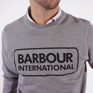 Sudadera Barbour international logo gris 1