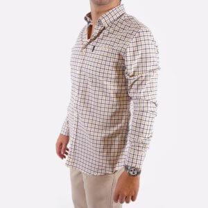 Camisa Barbour cuadros marino/mostaza 2