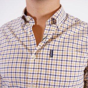 Camisa Barbour cuadros marino/mostaza 1