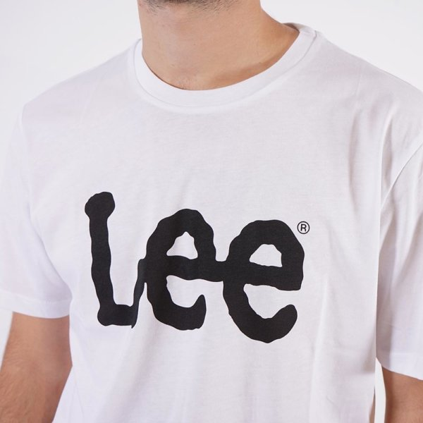 Camiseta Lee blanca logo 1