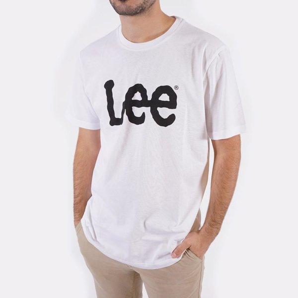 Camiseta Lee blanca logo 2