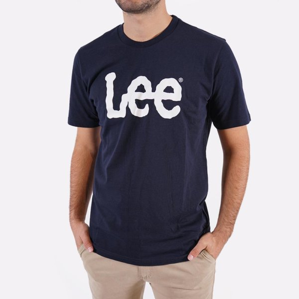 Camiseta Lee marino logo 1