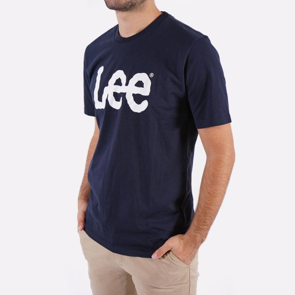 Camiseta Lee marino logo 3