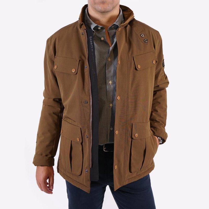 Chaquetón Barbour impermeable marrón 1