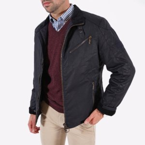 Chaqueta Barbour International encerada marino 1
