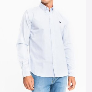 Camisa Scotta 1985 oxford rayas azules 1