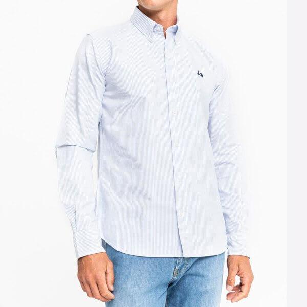 Camisa Scotta 1985 oxford rayas azules 1