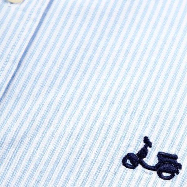 Camisa Scotta 1985 oxford rayas azules 3
