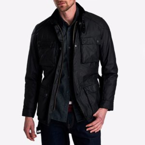 Chaqueta Barbour Int. blackwell wax negra 5