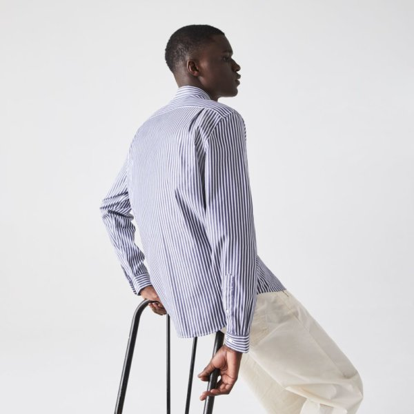 Camisa Lacoste Rayas marino 3