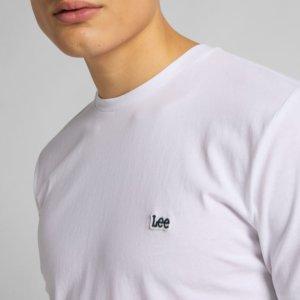 Camiseta Lee patch logo blanca 2