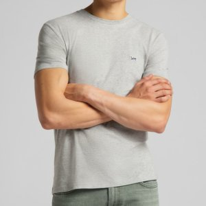 Camiseta Lee patch logo gris 1